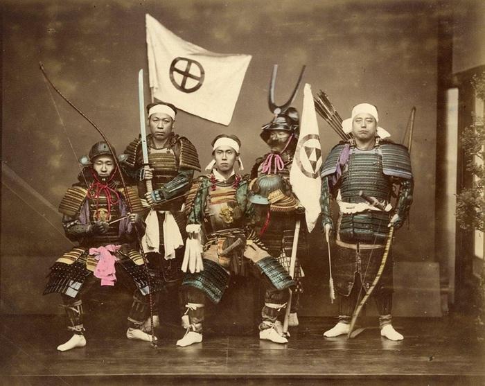 Настоящие японские самураи. | Фото: Live Journal.
